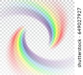 rainbow icon. shape arch... | Shutterstock .eps vector #649027927