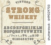 script font handcrafted  vector ...   Shutterstock .eps vector #649029703