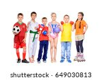 sports and activities for... | Shutterstock . vector #649030813