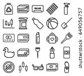 plastic icons set. set of 25...   Shutterstock .eps vector #649056757