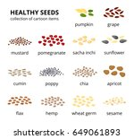 different kinds of healthy... | Shutterstock .eps vector #649061893