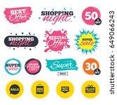 sale shopping banners. special... | Shutterstock .eps vector #649066243
