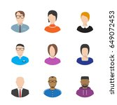 set of vector flat style people ... | Shutterstock .eps vector #649072453