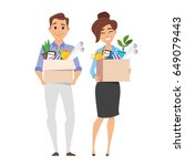 vector flat style characters of ... | Shutterstock .eps vector #649079443
