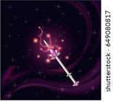 cartoon fantasy magic icon for... | Shutterstock .eps vector #649080817