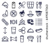 menu icons set. set of 25 menu... | Shutterstock .eps vector #649087063