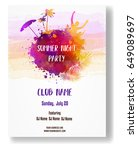 party poster template for... | Shutterstock .eps vector #649089697
