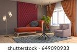 interior living room. 3d... | Shutterstock . vector #649090933