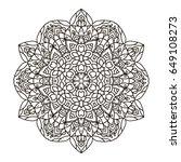 mandala. ethnic decorative... | Shutterstock .eps vector #649108273