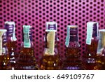 close up alcoholic beverages in ...   Shutterstock . vector #649109767