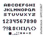 vector modern numbers  letters... | Shutterstock .eps vector #649111867