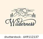 wilderness hand drawn... | Shutterstock .eps vector #649112137