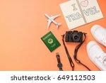 summer traveling concept.... | Shutterstock . vector #649112503