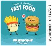 vintage food poster design with ... | Shutterstock .eps vector #649117243