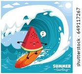Vintage Surfing Poster Design...