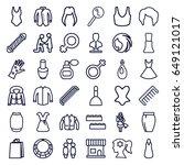 female icons set. set of 36... | Shutterstock .eps vector #649121017