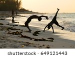 kids doing backflips and sports ... | Shutterstock . vector #649121443