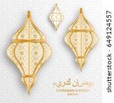 ramadan kareem background.... | Shutterstock .eps vector #649124557