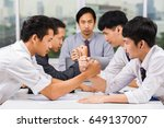 business competition concept  ...   Shutterstock . vector #649137007