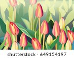 Red Tulip Flowers Spring Seaso...