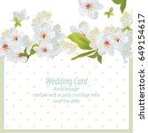 spring blossom flowers card...   Shutterstock .eps vector #649154617