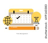 time and business management ... | Shutterstock .eps vector #649160383