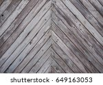dark wood panel background. old ... | Shutterstock . vector #649163053