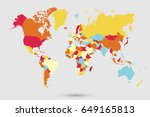 world map countries vector on... | Shutterstock .eps vector #649165813