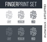 abstract set of fingerprints...   Shutterstock .eps vector #649169983