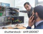 businessmen trading stocks... | Shutterstock . vector #649180087
