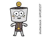 happy cartoon robot | Shutterstock .eps vector #649185157