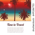 travel background with exotic... | Shutterstock .eps vector #649186753