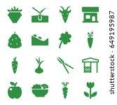 Natural Icons Set. Set Of 16...