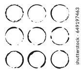 vector set of black frames.... | Shutterstock .eps vector #649197463