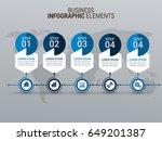 modern infographic template | Shutterstock .eps vector #649201387