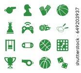 Game Icons Set. Set Of 16 Game...