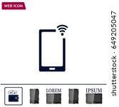 wireless connectivity concept.... | Shutterstock .eps vector #649205047