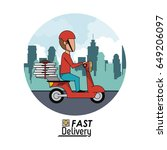 circular frame poster city... | Shutterstock .eps vector #649206097