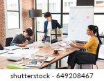group of three multi generation ... | Shutterstock . vector #649208467
