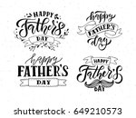 happy fathers day lettering... | Shutterstock .eps vector #649210573
