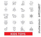 kids toys  playing  baby toy ... | Shutterstock .eps vector #649216807