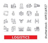 logistics  transportation ... | Shutterstock .eps vector #649216927