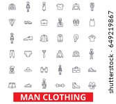 man clothing  clothes  fashion  ... | Shutterstock .eps vector #649219867