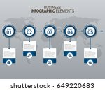 business infographic diagrams | Shutterstock .eps vector #649220683