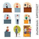 staff set of sellers. bartender ... | Shutterstock .eps vector #649222627