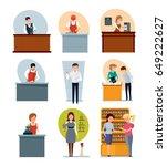 staff set of sellers. bartender ... | Shutterstock .eps vector #649222627