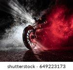 high power motorcycle chopper...   Shutterstock . vector #649223173
