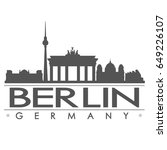 berlin skyline silhouette...   Shutterstock .eps vector #649226107
