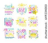 short possitive messages...   Shutterstock .eps vector #649234003