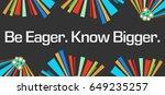 be eager know bigger dark... | Shutterstock . vector #649235257